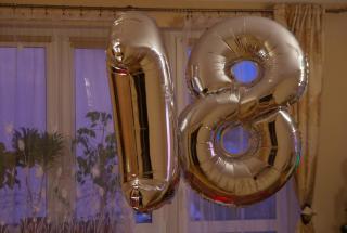 balony na hel jarosław, balon cyfra napełniony helem